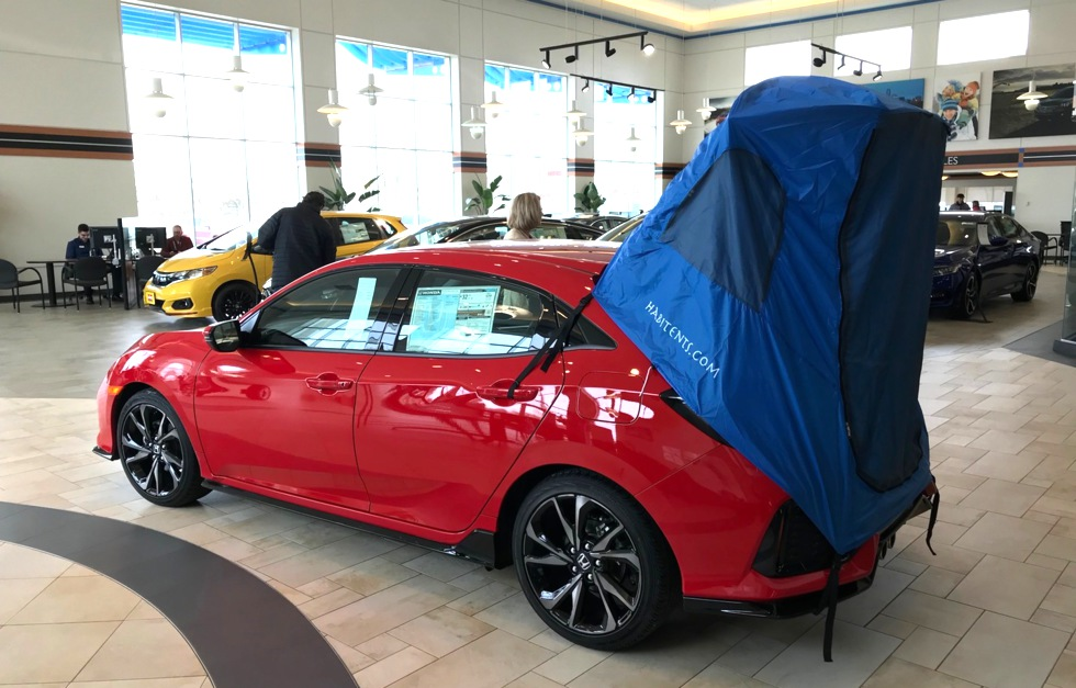 Habitents Prius Tent For Hatchback Car Camping Installation